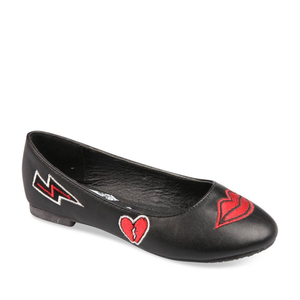 Ballerines NOIR LOVELY SKULL