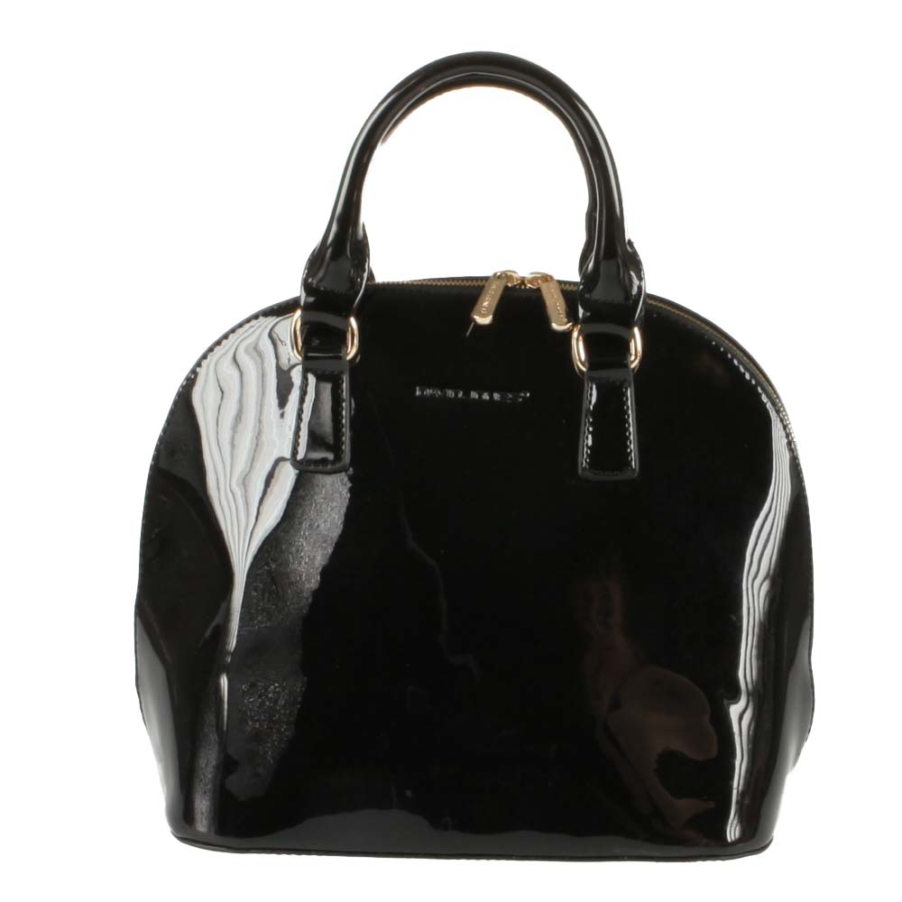 Sac à Main Noir Vernis David Jones